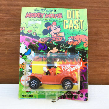 Disney Mikey Mouse Die Cast Car/ディズニー ミッキーマウス ダイキャストカー/180114-7