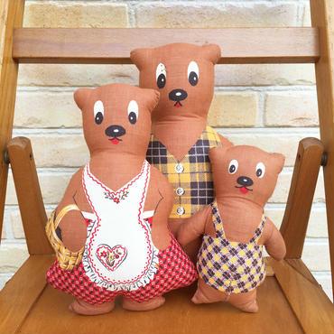 Bear Family Pillow Doll/クマの家族 ピロードール/171120-6