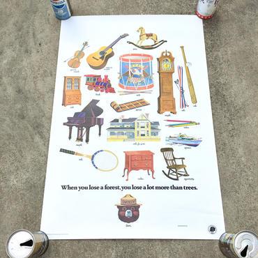 SMOKEY BEAR Education Posterスモーキーベア エデュケーションポスター/181126-4