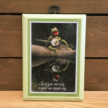 THE MUPPETS Kermit Wall Hanging/ザ・マペッツ カーミット 壁掛け/180718-2