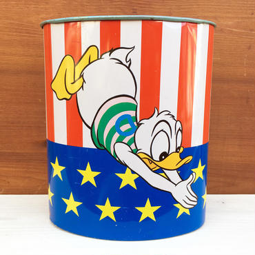 Disney Donald & Goofy Trush Can/ディズニー ドナルド & グーフィー ゴミ箱/180304-6