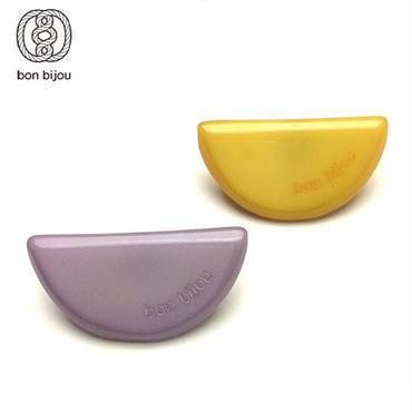 bon bijou セミサークルペアピアス yellow&grey