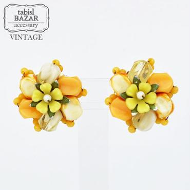 【American Vintage】Earrings ヴィンテージイヤリング flower from Los Angeles
