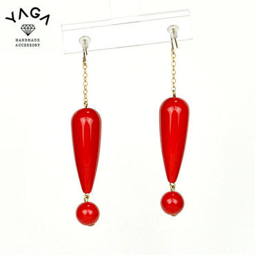 【YAGA】Big Surprise pierce ビックリピアス RED