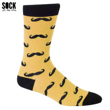 "【Sock it to me】""Mustache""メンズソックス ひげ"