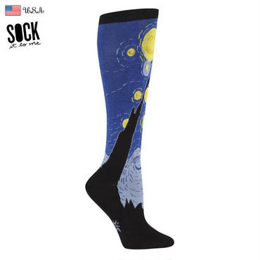 "【Sock it to me 】""Starry Night""レディスソックス 星月夜 by Gogh"