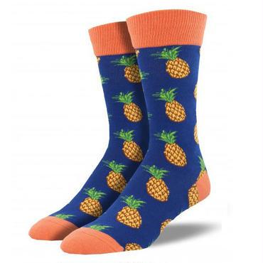 【SOCK SMITH】Many Pineapple メンズソックス パイナップル