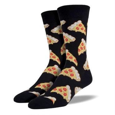 【SOCK SMITH】Pizza Black メンズソックス ピザ
