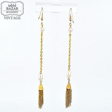 【American Vintage】Earrings ヴィンテージピアス Gold Chain from Los Angeles