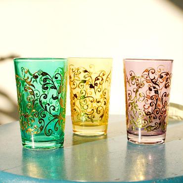 Mint tea glass 耐熱ミントティーグラス3個セット