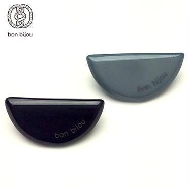 bon bijou セミサークルペアピアス black&green