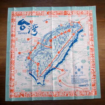 布すごろく「台湾旅行地図」ブルー
