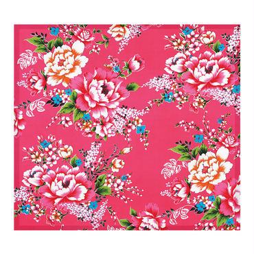 【BYC】マルチクロス(メガネふき)「花布ピンク」
