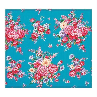 【BYC】マルチクロス(メガネふき)「花布ブルー」