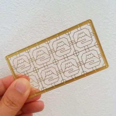 窓飾りデザインのブックマーカー(富士山)
