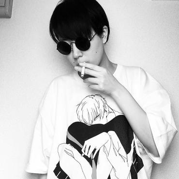 「せっくすいがいのたのしいこと」舘男子Tシャツ【白×黒線】