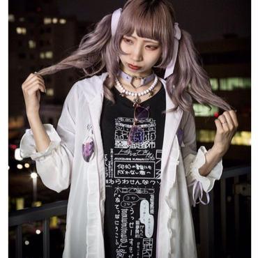 """""""十字架""""舘文字Tシャツ【黒】"""