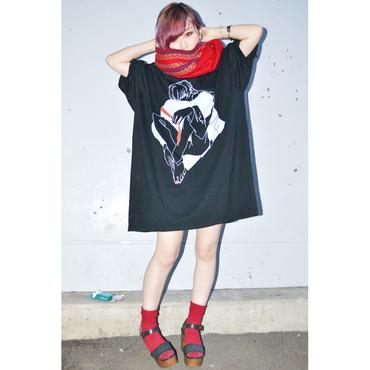 「せっくすいがいのたのしいこと」舘男子Tシャツ【黒×白線】