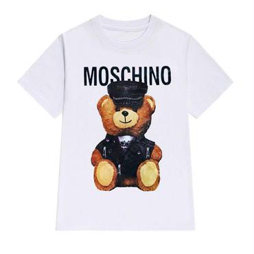 【TAKAHACI.STORE】モスキーノ  MOSCHINO  Tシャツ 半袖 カッコイイ テディベア プリント トップス