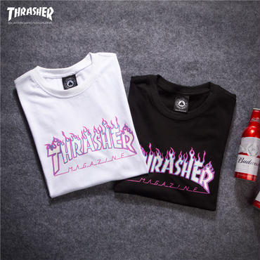 【TAKAHACI.STORE】THRASHER  スラッシャー  Tシャツ  トップス   ロゴプリント  thra-8117