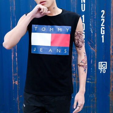 【TAKAHACI.STORE】Tommy Jeans   トミージーンズ      タンクトップ    ノースリーブ     tommy-888