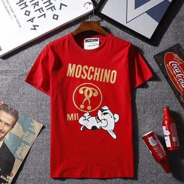 【TAKAHACI.STORE】MOSCHINO モスキー  Tシャツ プリント 半袖 レッド カットソー トップス ima-801