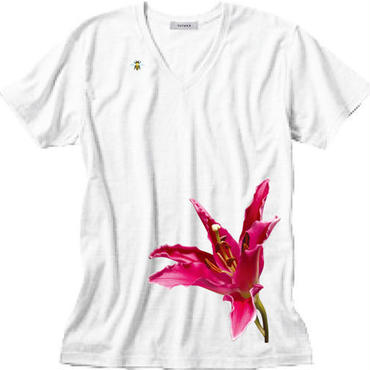 bloomT / Men's V-neck / White