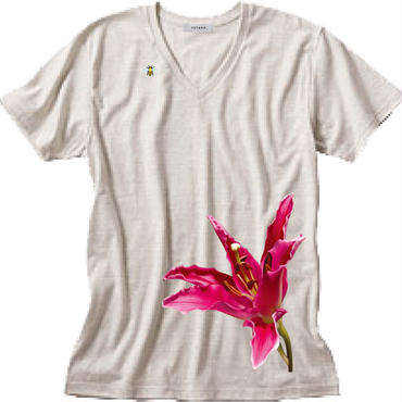 bloomT / Mens' V-neck / Oatmeal