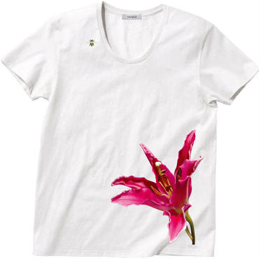 BloomT / Mens' U-neck / White