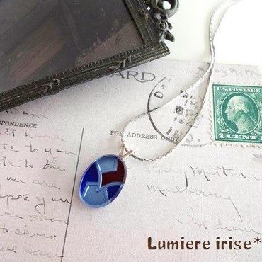 vintagレトロネックレス(ブルー)