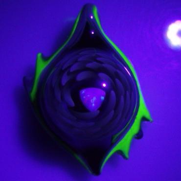 [uvATP-07]uv asymmetry tornado opal pendant