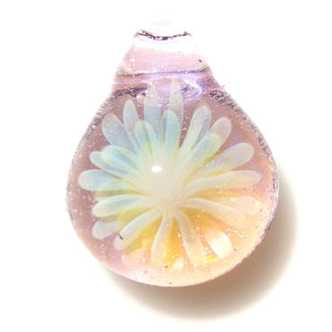 [MCYF-14]mini clear yellow flower pendant