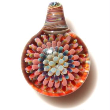 [MCPF-16]mini clear poisonous flower pendant