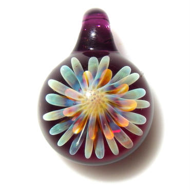 [MCUN2-43] mini clear unber flower pendant
