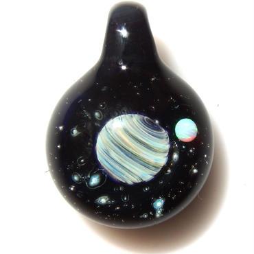 [UWP-02]glasxy double planet pendant