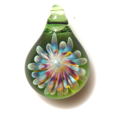 [MCUN2-19] mini clear unber flower pendant