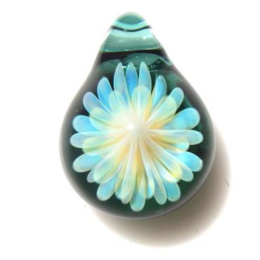 [MCYF-17]mini clear yellow flower pendant