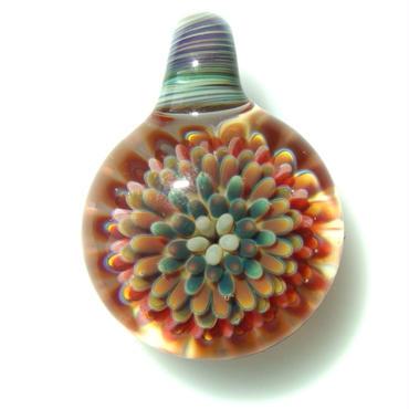 [MCPF-08]mini clear poisonous flower pendant