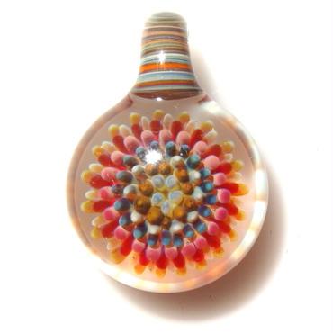 [MCPF-48]mini clear poisonous flower pendant