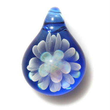 [MCN-56] mini clear flower pendant