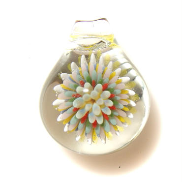 [MCCF-14]mini cute clear flower pendant
