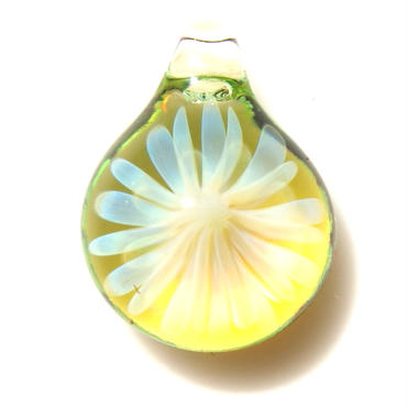 [MCYF-46]mini clear yellow flower pendant