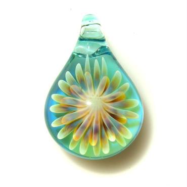 [MCUN2-35] mini clear unber flower pendant