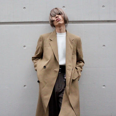 BARONIARU  HIGH-SLIT CHESTER COAT【BGE】