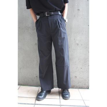 NYLON FLARE PANTS【BLK】