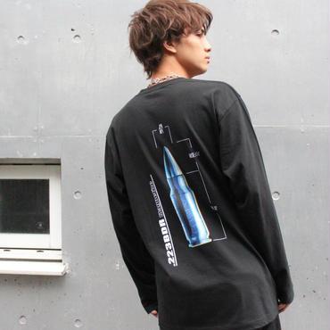 バンダリ亜砂也  ×  223BDR  LONG SLEEVE TEE 【BLK】