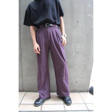 NYLON FLARE PANTS【PPL】