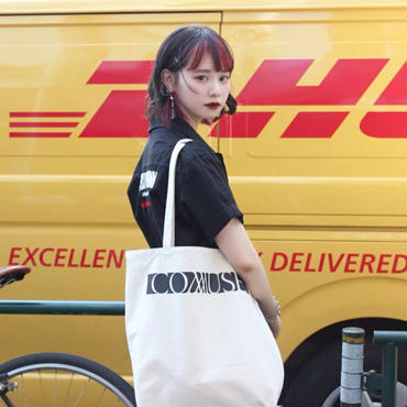 """""""C.M.S"""" TOTE BAG【WHT】"""