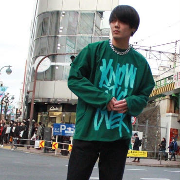 I KNOW IT'S OVER LONG SLEEVE  TEE【GRN】