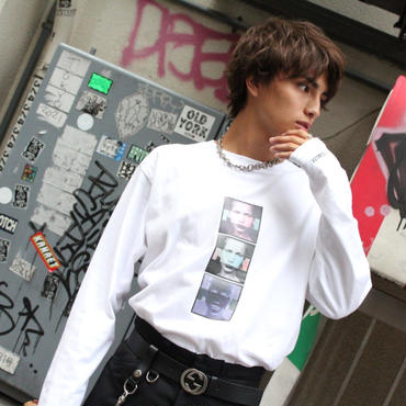 """MUSE"" GRAPHIC LONG SLEEVE TEE 【WHT】"